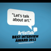 ArtistTalk Best Interview Award 2012